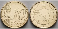 Estland 10 Cent 2011  stgl Kursmünze, 10 Cent, 2.14 US$