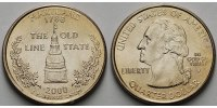 1/4 $ 2000 P USA Maryland P - Kupfer-Nickel - vz  6,00 EUR  + 7,00 EUR frais d'envoi