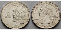 1/4 $ 2000 D USA New Hampshire D - Kupfer-Nickel - vz  6,00 EUR  +  7,00 EUR shipping