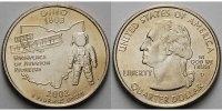 1/4 $ 2002 D USA Ohio D - Kupfer-Nickel - vz  5,00 EUR  +  7,00 EUR shipping