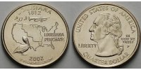 USA 1/4 $ 2002 P vz Louisiana P - Kupfer-Nickel - 7.14 US$