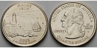 1/4 $ 2003 D USA Maine D - Kupfer-Nickel - vz  5,00 EUR  +  7,00 EUR shipping