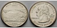 1/4 $ 2005 D USA West Virginia D - Kupfer-Nickel - vz  5.55 US$ 5,00 EUR