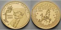50 Euro 6, 22g fein 21 mm Ø 2009 Belgien Erasmus von Rotterdam, mit Kap... 445,00 EUR