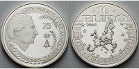 10 Euro 2009 Belgien 75.Geburtstag König Albert II. PP  47,80 EUR  zzgl. 5,00 EUR Versand