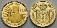 Niue 25 Dollars<br>1,24g fein<br>13,92 mm ...