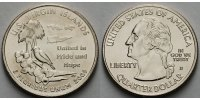 USA 1/4 $ 2009 D vz Virgin Islands /D - Kupfer-Nickel - 5.71 US$