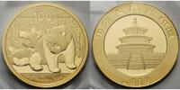China 100 Yuan,7,78gfein Panda-Bären, 1/4 oz, 999 Gold