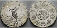 5 Onza,5 oz. 1997 Mexiko Siegesgöttin, 5 Onza, stgl  299,80 EUR  + 17,00 EUR frais d'envoi