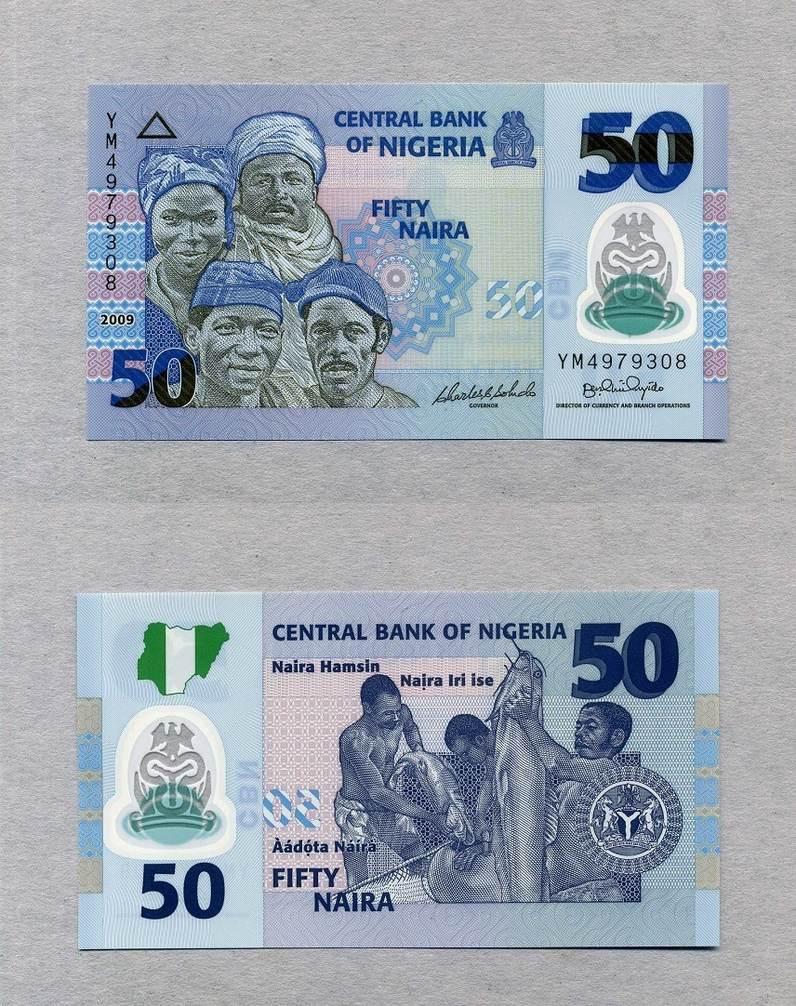 50 Naira 2009 Nigeria P 40 Polymer Unc