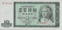 10 Mark 1964 Deutsche Notenbank 1948-1964  1