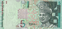 5 Ringgit ND(2001) Malaysia Pick 41a unc/kassenfrisch  6,00 EUR  +  6,50 EUR shipping