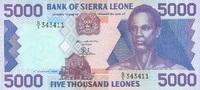 5.000 Leones  Sierra Leone Pick 21a unc/kassenfrisch  20,00 EUR  +  6,50 EUR shipping