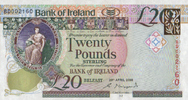 20 Pounds 20.4.2008 Bank of Irland Pick 85 unc  58,00 EUR  +  6,50 EUR shipping