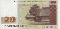20 Latu 1992 Lettland Pick 45 unc  66,00 EUR  +  6,50 EUR shipping