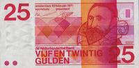 25 Gulden 10.2.1971 Niederlande Pick 92b unc  89,00 EUR  zzgl. 4,50 EUR Versand