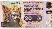 20 Pounds 01.1.2000 Clydesale Bank  PLC Pick 229B unc  112.47 US$ 100,00 EUR  +  17.99 US$ shipping