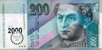 200 Korun 01.8.1995 Slovakia Pick 37 unc/k...