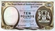 10 Pounds 02.5.1978 The Royal Bank of Scotland Pick 338a unc  260,00 EUR  +  6,50 EUR shipping