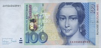 100 Mark 1996 Deutsche Bundesbank Ros.310c...