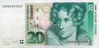 20 Mark 01.10.1993 Deutsche Bundesbank Ros...