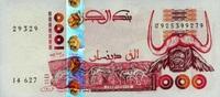 1.000 Dinars 10.6.1998 Algerien Pick 142b ...