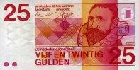 25 Gulden 10.2.1971 Niederlande Pick 92a unc/kassenfrisch  89,00 EUR  zzgl. 4,50 EUR Versand