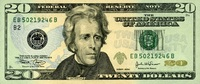 20 Dollars Serie 2004 USA Pick 521 EB unc/...