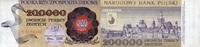 200.000 Zlotych 01.2.1989 Polen P.155a unc...
