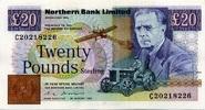 20 Pounds 24.8.1983 Nord-Irland P.195b unc/kassenfrisch  247.43 US$ 220,00 EUR  +  17.99 US$ shipping