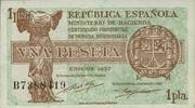 1 Pesete 1937 Spanien P.94 unc/kassenfrisch