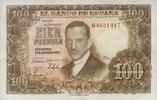 100 Pesetas 07.3.1953(1 Spanien P.145 unc/...