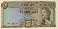 10 Shillings (1963) Jersey P.7a 1-2  65,00 EUR  zzgl. 4,50 EUR Versand