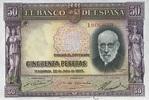 50 Pestas 22.7.1935 Spanien P.88 unc/kassenfrisch  59,00 EUR  +  6,50 EUR shipping