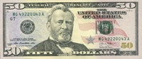 50 Dollars Serie 2013 USA - Chicago - unc/...
