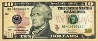 10 Dollars Serie 2013 USA - New York - unc...