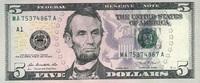 5 Dollars Serie 2013 USA - Boston - unc/ka...