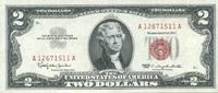 2 Dollars 1963 USA P.382a unc/kassenfrisch