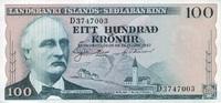 100 Kronur 21.6.1957 Island P.40a unc/kassenfrisch  10,00 EUR  +  6,50 EUR shipping