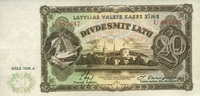 20 Latu 1936 Lettland P.30b unc/kassenfrisch  290,00 EUR  +  6,50 EUR shipping