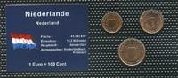 Set 3  Niederlande  Bankfrisch  1,00 EUR  +  6,50 EUR shipping