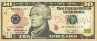 10 Dollars Serie 2009 USA - Atlanta - P.532-F unc/kassenfrisch  19,95 EUR  +  6,50 EUR shipping
