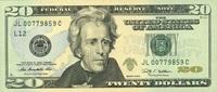 20 Dollars Serie 2009 USA - San Francisco - P.533-L unc/kassenfrisch  32,00 EUR  +  6,50 EUR shipping