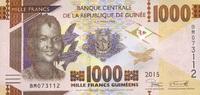 1.000 Francs 2015 Guinea - New Design - Serie 2015 - unc/kassenfrisch  2,10 EUR  +  6,50 EUR shipping