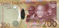 200 Maloti 2015 Lesotho - New Design - 2015 unc/kassenfrisch  35,00 EUR  +  6,50 EUR shipping