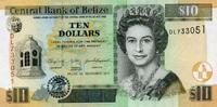 10 Dollars 01.1.2011 Belize P.68d/2011 unc/kassenfrisch  14,95 EUR  +  6,50 EUR shipping