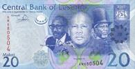 20 Maloti 2013 Lesotho P.22b/2013 unc/kassenfrisch  4,55 EUR  +  6,50 EUR shipping