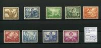 9 Werte 1933 Deutsches Reich(1933/1934) - ...