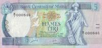 5 Liri  Malta Pick 42 unc  52,00 EUR  +  6,50 EUR shipping