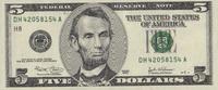 5 Dollars  USA Pick 517 unc